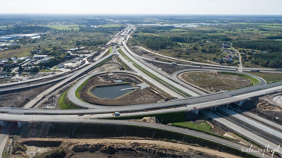 zdjęcia inwestycji drogowych dron