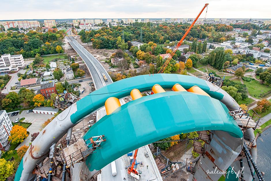Most Uniwersytecki w Bydgoszczy | Trasa Uniwersytecka | Zdjęcia inwestycji w trakcie budowy
