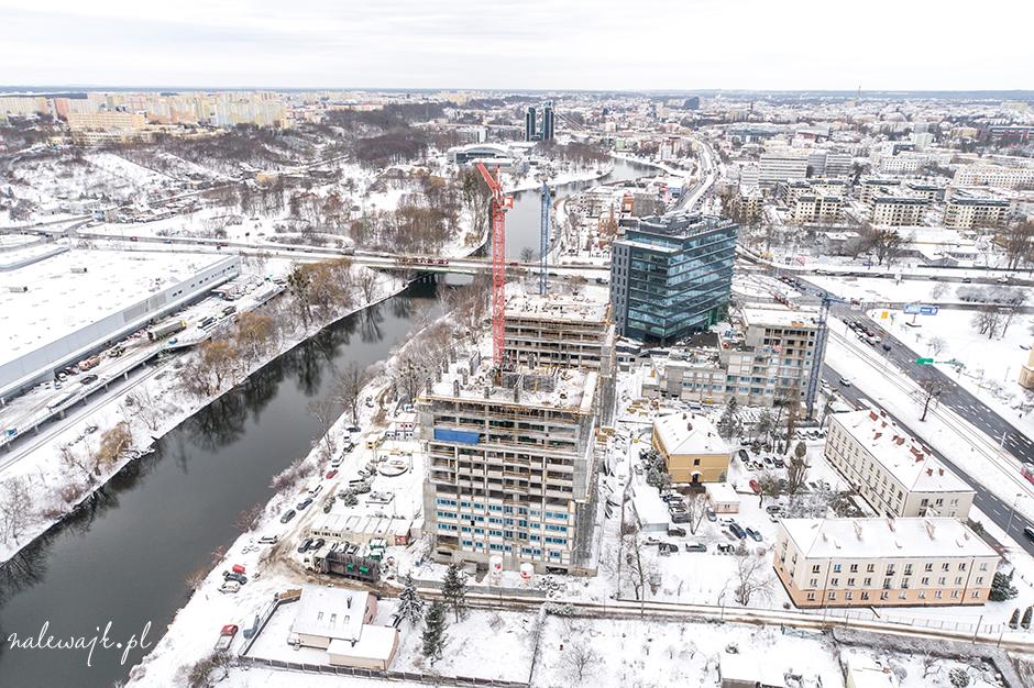 Aura Towers | Bydgoszcz | Nowa inwestycja mieszkaniowa | Zdjęcia z drona